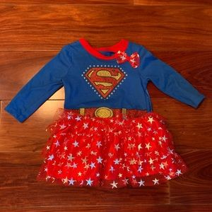 Supergirl Dress Costume w/ Detachable Cape